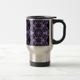 Gothic Purple Lace Fractal Pattern Stainless Steel Travel Mug