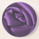 Gothic Purple Rose Coaster