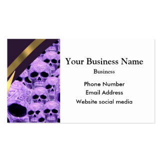 Gothic purple skull pattern Double-Sided standard business cards (Pack of 100)