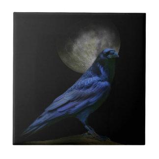 Gothic Raven Black Magic Art Tile