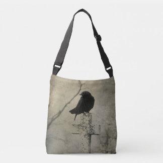 Gothic Raven Crossbody Bag
