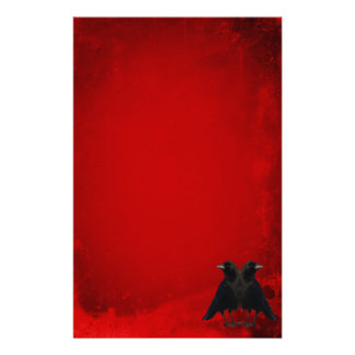 Gothic Red Crows Stationery