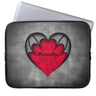 """Gothic red heart Valentine's day 15"""" Laptop Computer Sleeves"""