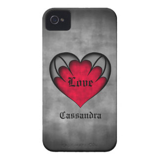 Gothic red heart Valentine's day iPhone 4 Case-Mate Case