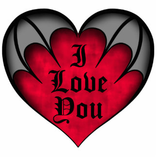 Gothic red heart Valentine's day magnet Photo Sculpture Magnet