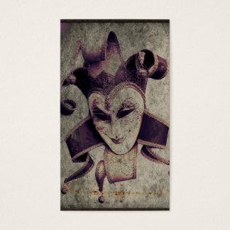 Gothic Renaissance Clown Joker Business Card