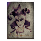 Gothic Renaissance Evil Clown Joker Card
