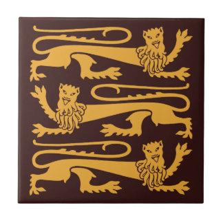 Gothic revival Pugin Mad happy lions CC0960 Tile