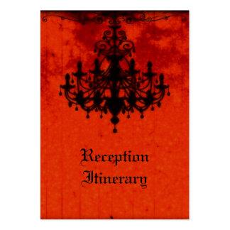 Gothic Romance Victorian Chandelier Wedding Business Card Templates