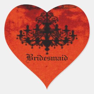 Gothic Romance Victorian Chandelier Wedding Heart Sticker