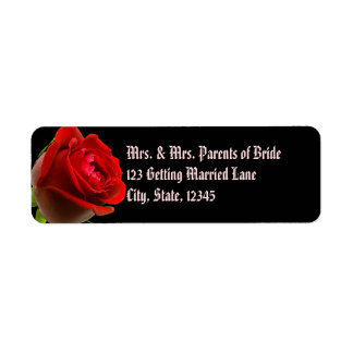Gothic Rose Avery Label