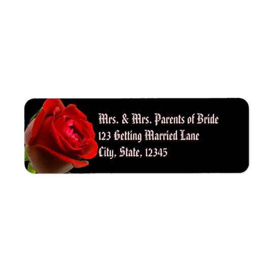 Gothic Rose Avery Label