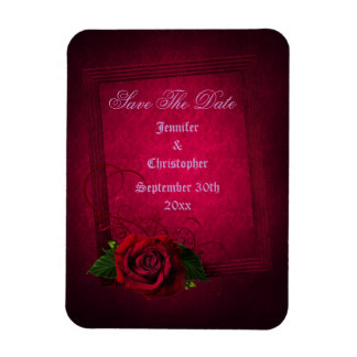 Gothic Rose Elegant Save The Date Wedding Flexible Magnets