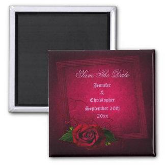 Gothic Rose Elegant Save The Date Wedding Refrigerator Magnet
