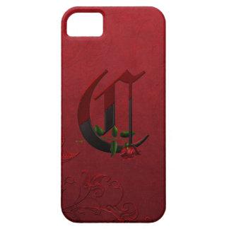 Gothic Rose Monogram C iPhone 5 Case