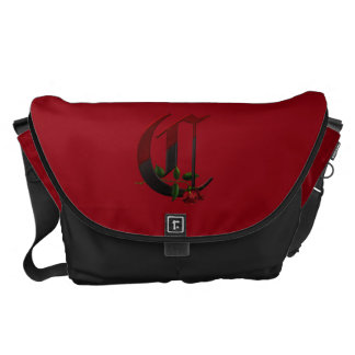 Gothic Rose Monogram C Messenger Bag