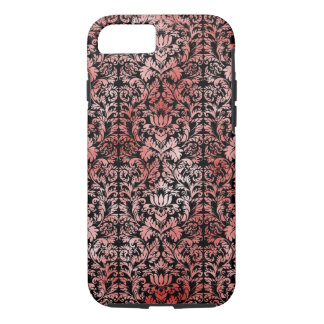 Gothic Rose Red Black Damask iPhone 7 Case