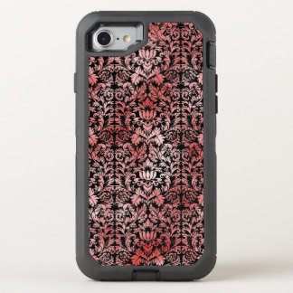 Gothic Rose Red Black Damask OtterBox Defender iPhone 8/7 Case