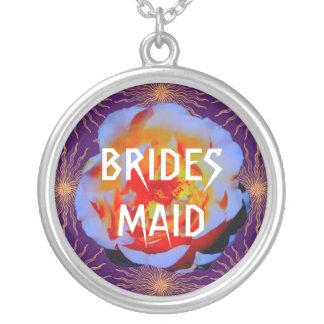 Gothic Rose Sunstar Bridesmaid necklace