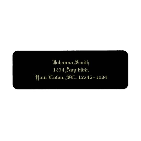 Gothic Roses Victorian Wedding Return Address Label