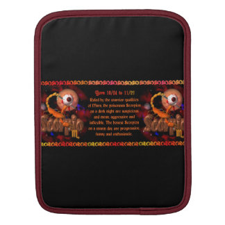 Gothic Scorpio zodiac astrology by Valxart com Sleeves For iPads