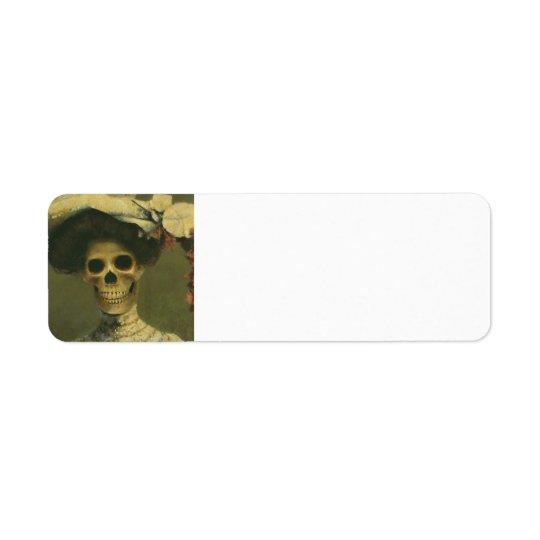 Gothic Skeleton Lady Lables Return Address Label