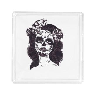 Gothic Skull Acrylic Tray