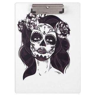 Gothic Skull Clipboard