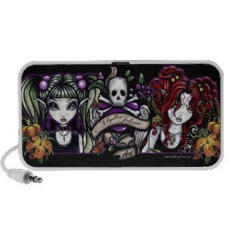 Gothic Skull Fairies Rock Tattoo Doodle Speaker