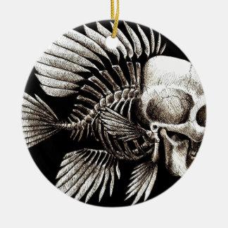 GOTHIC SKULL FISH CHRISTMAS TREE ORNAMENTS