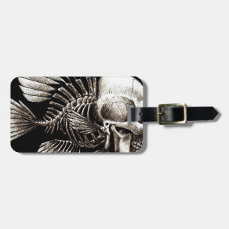 GOTHIC SKULL FISH TAG FOR BAGS
