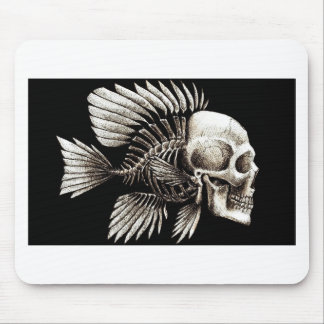 GOTHIC SKULL FISH MOUSEPADS