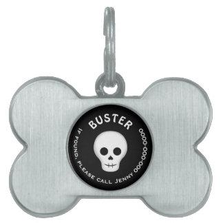 Gothic skull Halloween Pet Name Tag