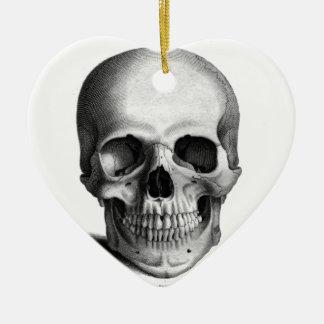 Gothic Skull Horror Fantasy Ceramic Ornament