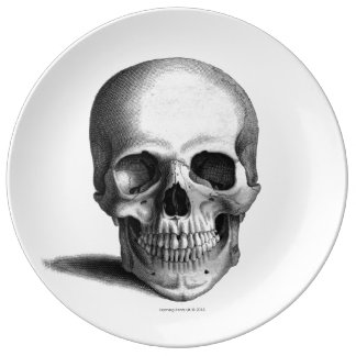 Gothic Skull Horror Fantasy Porcelain Plate