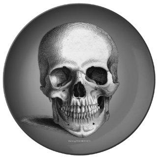 Gothic Skull Horror Fantasy Porcelain Plates