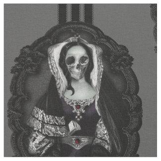 Gothic Skull Lady Fabric