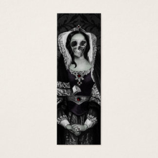 Gothic Skull Lady Mini Business Card