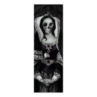 Gothic Skull Lady Pack Of Skinny Business Cards