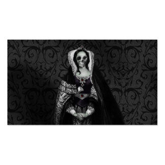 Gothic Skull Lady Pack Of Standard Business Cards