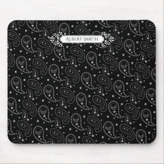 Gothic Skull Paisley Pattern Mouse Pad
