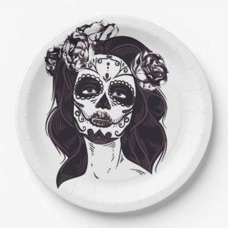 Gothic Skull Paper Plate