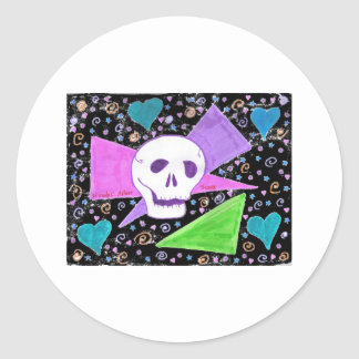 Gothic Skull pastel black Stickers