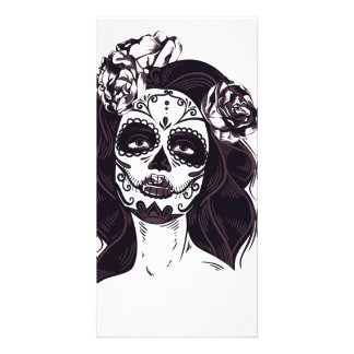 Gothic Skull Photo Greeting Card