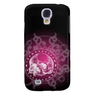 Gothic Skull Pink Galaxy S4 Covers