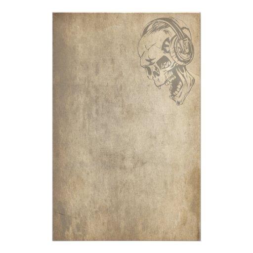 Gothic Skull Custom Stationery