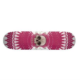 Gothic Skull Tribal Fractal Design: Skateboard #5