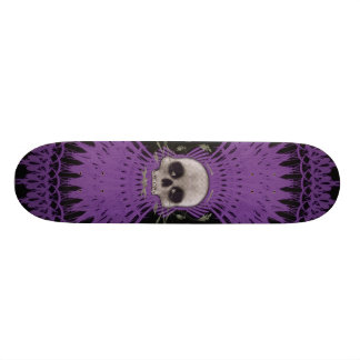 Gothic Skull Tribal Fractal Design: Skateboard #6
