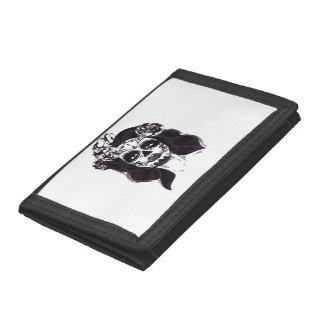 Gothic Skull Trifold Wallets