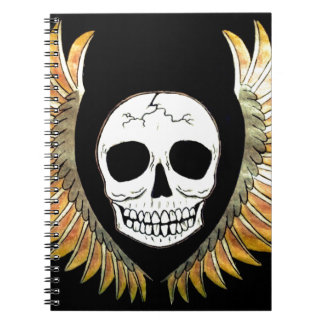 Gothic Skull & Wings Note Books